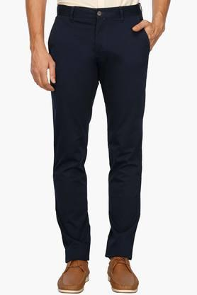 LOUIS PHILIPPE SPORTSMens 4 Pocket Solid Chinos - 203146882