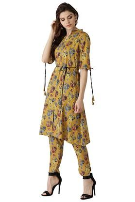 Womens Rayon Printed Kurti With Trouser