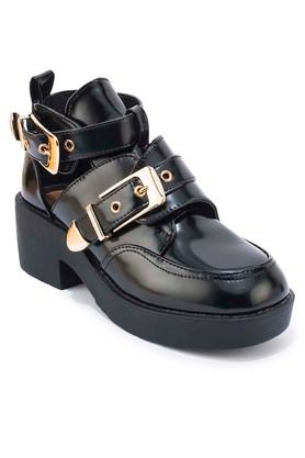 TRUFFLE COLLECTIONWomens Casual Wear Buckle Closure Boots