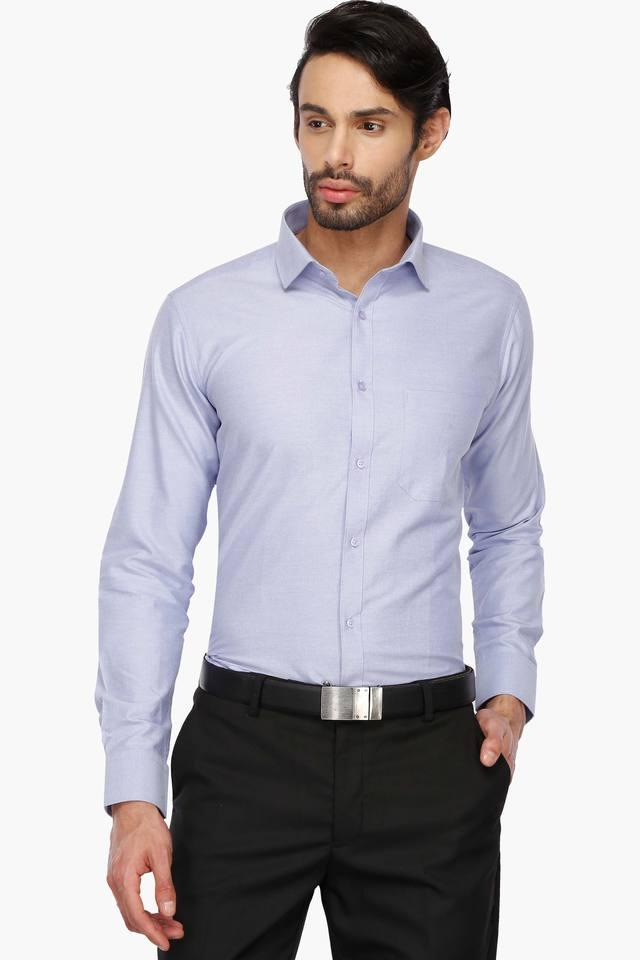 Mens Regular Collar Slub Shirt