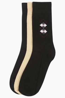STOP Mens Solid Socks Pack Of 3