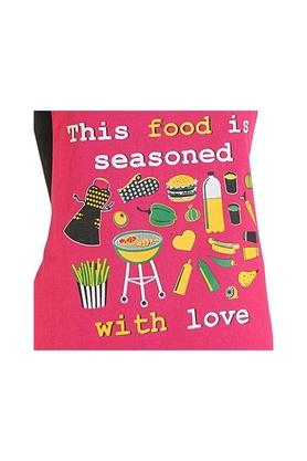 Printed Adjustable Apron with Oven Mitts - Set of 3