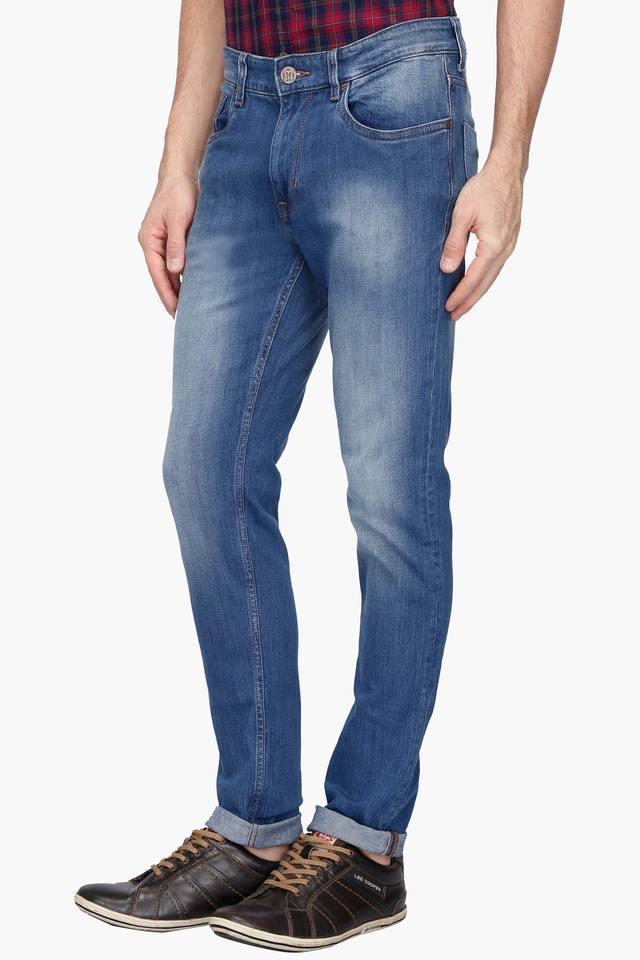 Mens Slim Fit Heavy Wash Jeans (Brandon Fit)
