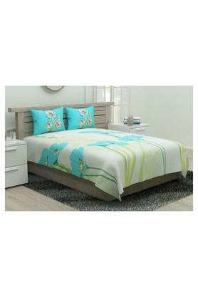 PORTICO Floral Print Double Bedsheet With 2 Pillow Covers - 204631173_9900