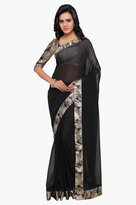 DEMARCAWomen Chiffon Embellished Saree - 203229370