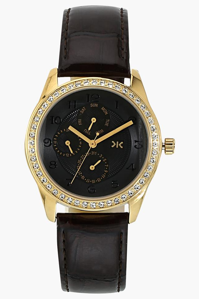Womens Chronograph Leather Watch - W521D