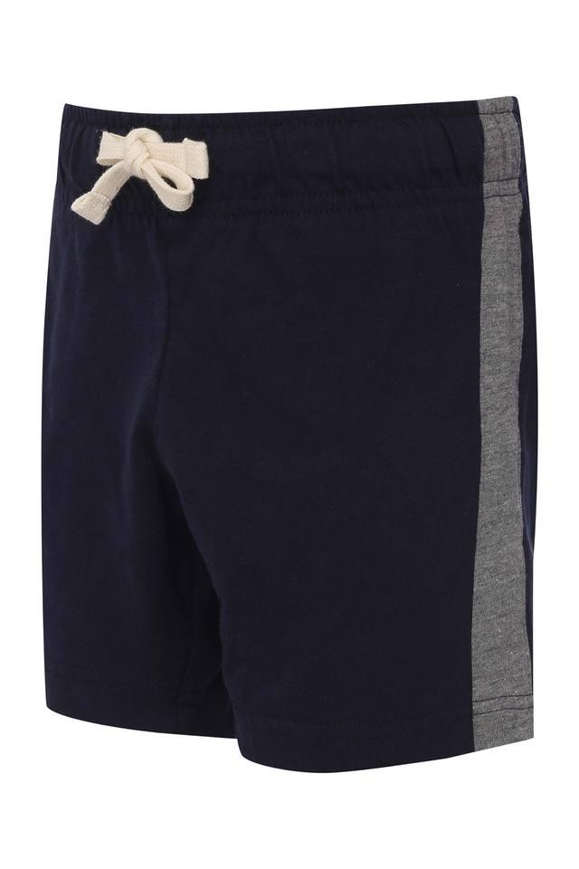 Girls Side Taped Solid Shorts