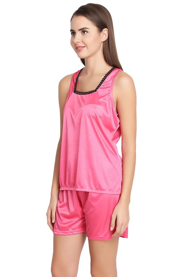 Womens Square Neck Solid Top and Shorts Set