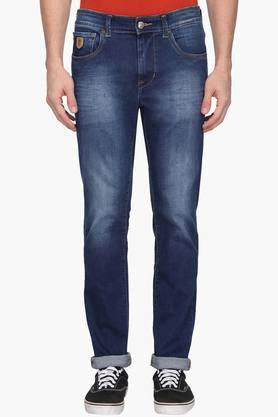 U.S. POLO ASSN. DENIM Mens 5 Pocket Skinny Fit Heavy Wash Jeans (Regallo Fit) - 202915492
