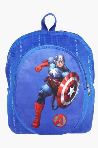 Unisex Zipper Closure Captain America Backpack