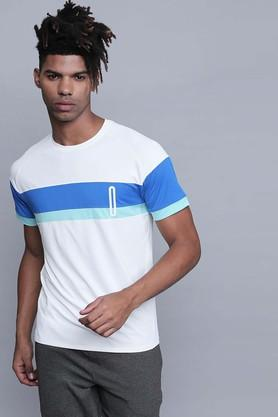 PROWL Mens Round Neck Colour Block T-Shirts - 204858010_9111