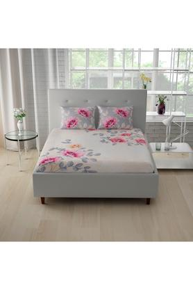 SPACESCotton Printed Double Bedsheet With 2 Pillow Covers - 203257474_9900