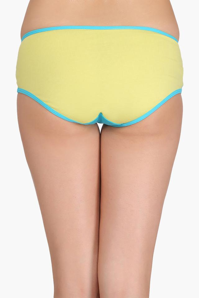 Womens Mid Waist Solid Hipster Brief