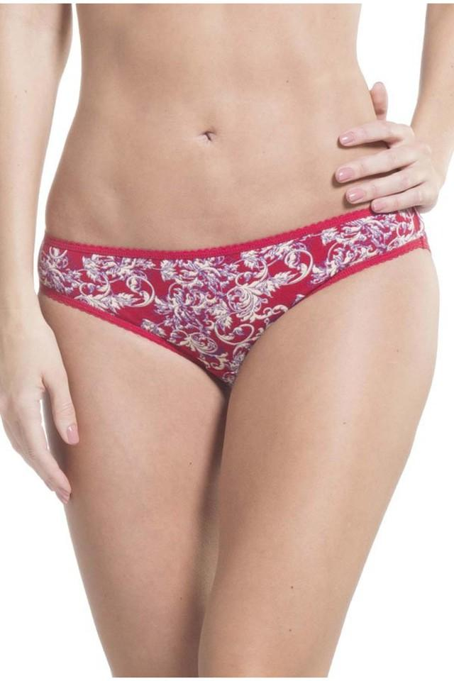 Womens Printed and Solid Bikini Briefs - Pack of 2