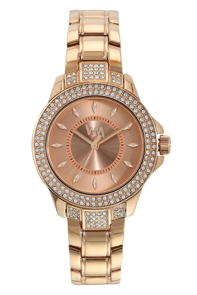 Womens Rose Gold Dial Stainless Steel Analogue Watch - WI106D