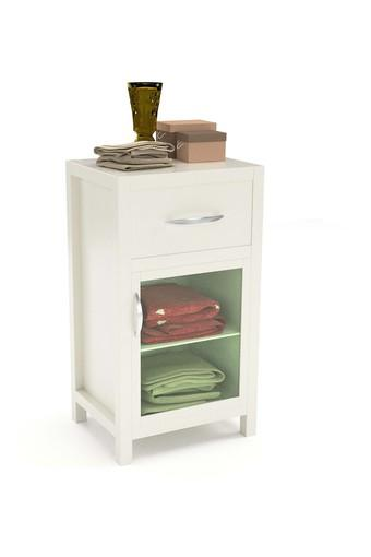 White Miky Bed side Table