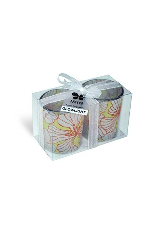 Round Decorative Glow Lights Candle Pack of 2