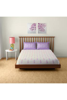 SPACESCotton Printed Double Bedsheet With 2 Pillow Covers - 203257354_9900