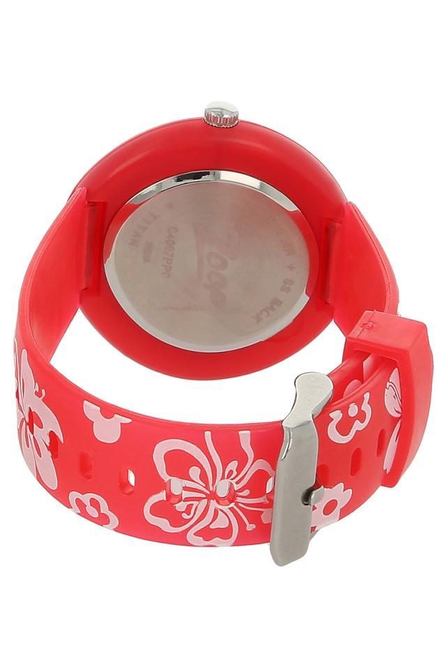 Girls White Dial Plastic Watch - NKC4007PP01