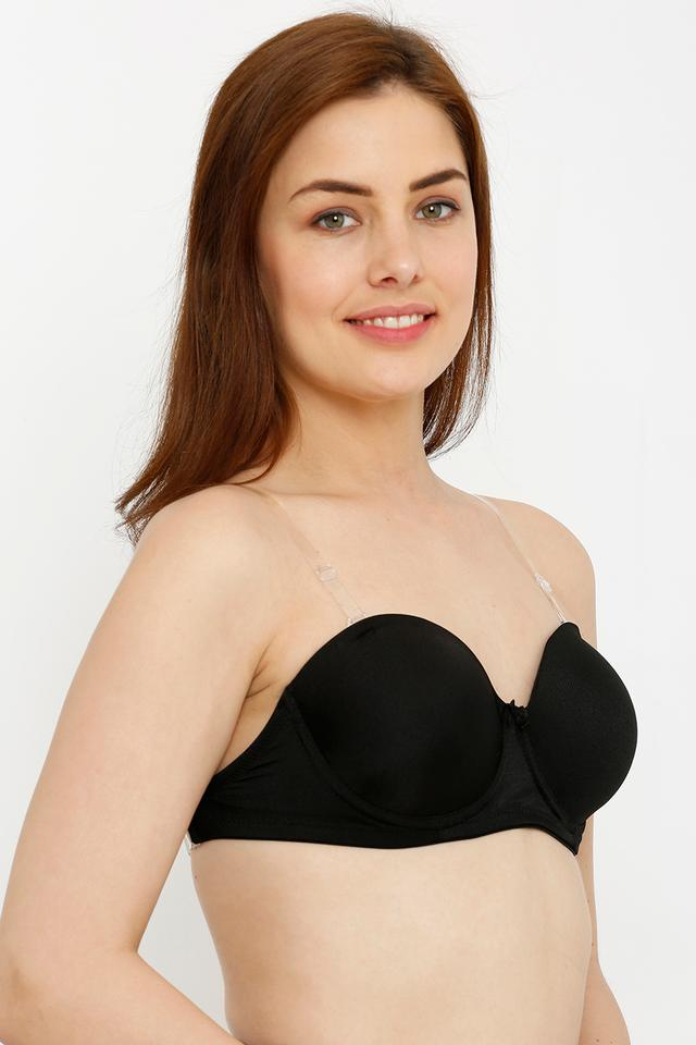 Womens Solid Padded Underwired Tube Bra
