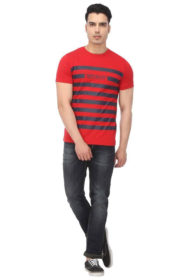 Mens Graphic Print Round Neck T-Shirt