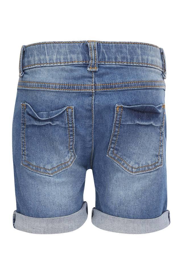 Girls 5 Pocket Whiskered Effect Shorts