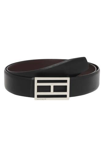 TOMMY HILFIGER Mens Leather Buckle Closure Formal Belt