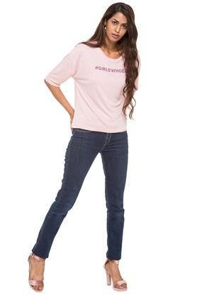 Women RelaxistanGirls Who Eat Extended Sleeve Tee
