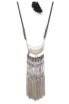 Womens Silver Plated Metal Necklace