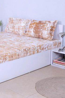 HOUSE THISPrinted Double Bed Sheet With 2 Pillow Covers - 203275967_9111