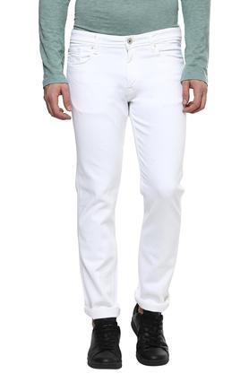 Mens 5 Pockets Coated Jeans