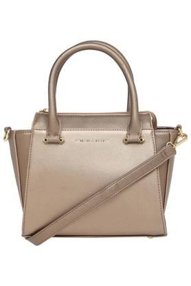 Womens Zipper Closure Satchel Handbag