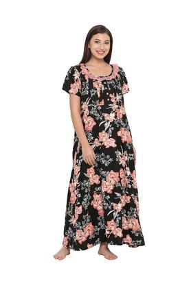 5c9f1198f04 X CLOVIA Maternity Floral Print Night Gown
