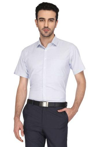 VAN HEUSEN -  Blue Formal Shirts - Main