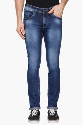 FLYING MACHINE Mens Skinny Fit Heavy Wash Jeans (Jackson Fit)