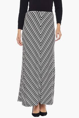 LATIN QUARTERSWomens Stripe Long Skirt