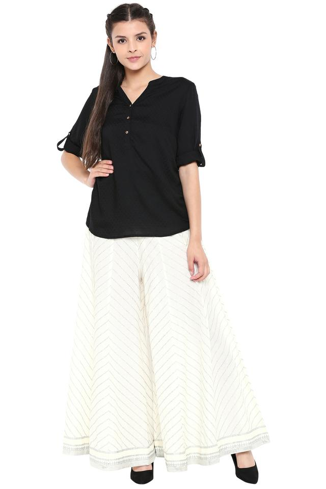 Womens Striped Culottes