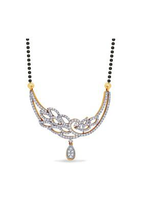 P.N.GADGIL JEWELLERSWomens Devika Crescent Diamond Tanmaniya - DTAN1161