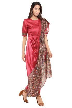 Womens Printed Jumpsuit Saree