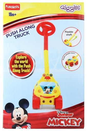 Kids Giggles Disney Push Along Mickey Mouse Print Truck Toy