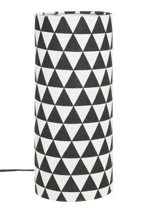IVY Round Geometric Print Table Lamp - 30 Cms