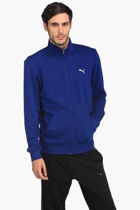 PUMAMens Zip Through Neck Slub Sweatshirt