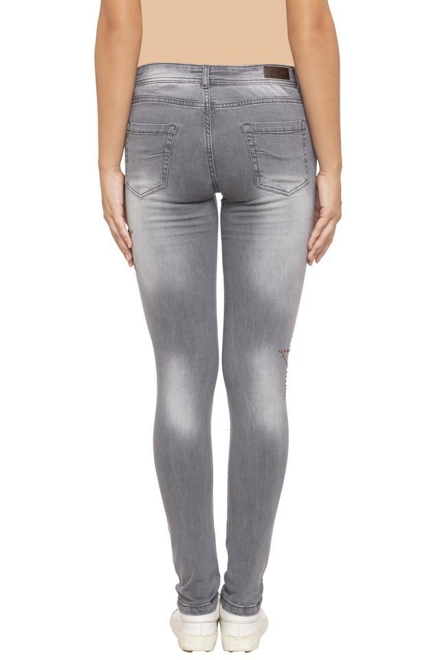 Womens 4 Pocket Rinse Wash Jeans