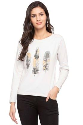 RS BY ROCKY STARWomens Round Neck Slub Applique Sweatshirt