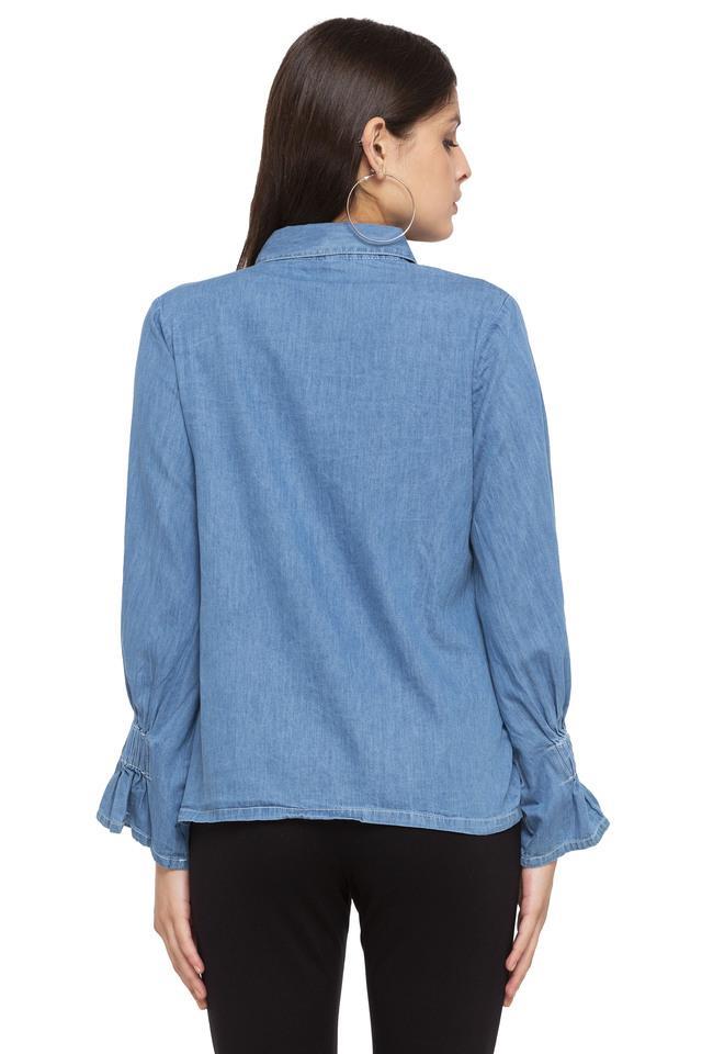 Womens Washed Casual Shirt