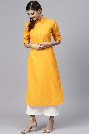 Womens Solid Pathani Kurta