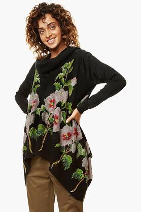 DESIGUALWomens Turtle Neck Printed Sweatshirt