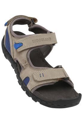 WOODLANDMens Leather Velcro Closure Sandals