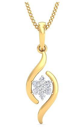 P.N.GADGIL JEWELLERSWomens Florid Seven Stone Diamond Pendant - DDT008PD143
