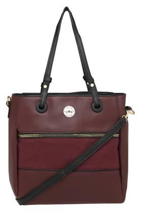 Womens Zipper Closure Tote Handbag and Pouch Set